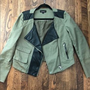 Army Green Moto Jacket